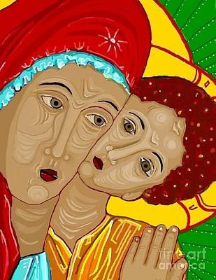 Virgin Mary Digital Art - Theotokos by Sarah Loft