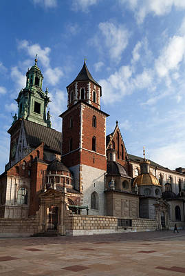 Royal Chapel Photograph - Ther Wawel Cathedral Tower And The by Panoramic Images