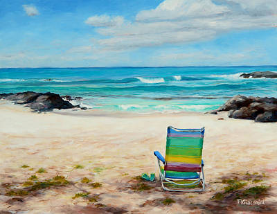 Sandy Beaches Painting - Therapy by Mary Giacomini