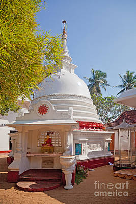 Photograph - Theravada Buddhist Stupa  Sri Lanka by Liz Leyden