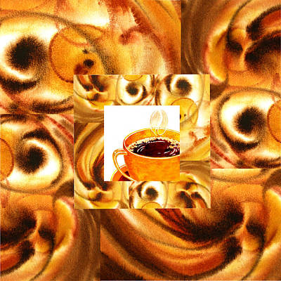 Painting - There Is A Coffee At The End Of The Tunnel  by Irina Sztukowski