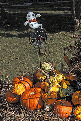 Photograph - There Is A Ghost In The Pumpkins by Elvis Vaughn