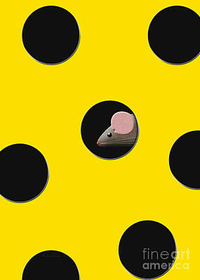 Digital Art - There Is A Mouse In My Cheese by Andee Design