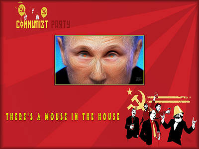 Slavic Digital Art - There Is A Mouse In The House by Joe Paradis