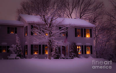 There Is No Place Like Home For The Holidays Art Print by Wayne Moran