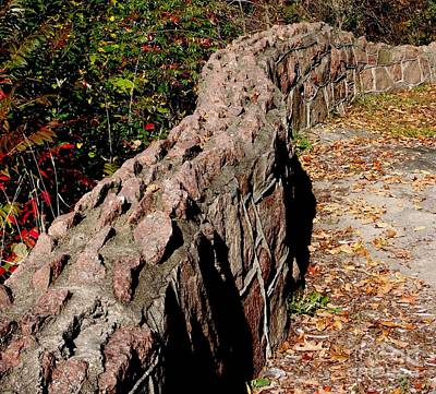 Photograph - There Was A Crooked Wall by Gail Matthews