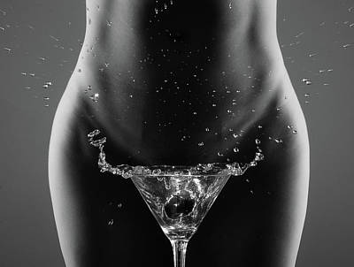 Nude Photograph - Therea?s Your Drink, Sir... by Artistname