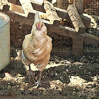 Painting - There's  A Chicken In The Hen House by Artist and Photographer Laura Wrede