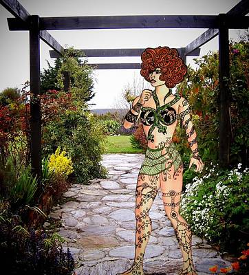 Digital Art - There's A Nymph In The Garden by Nancy Pauling
