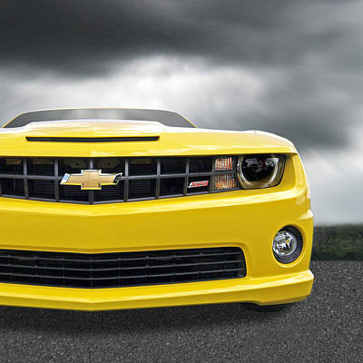 Photograph - There's A Storm Coming - Camaro Ss Square by Gill Billington