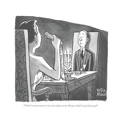 There's Someone Answers Your Description Art Print by Peter Arno