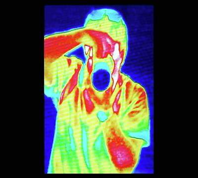 Thermal Camera Self Portrait Art Print by Zephyr