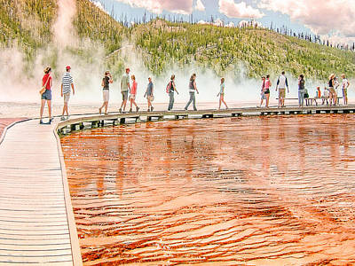 Photograph - Thermal Pool Yellowstone National Park by Bob and Nadine Johnston