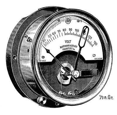 Thermal Voltmeter Art Print by Science Photo Library