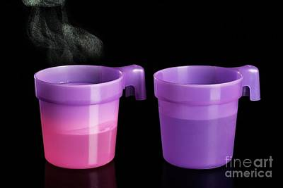 Thermochromatic Plastic Cups Art Print by Martyn F. Chillmaid