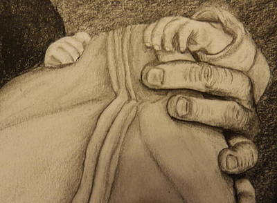 Drawing - These Are The Hands That Love Me by Dan Wagner