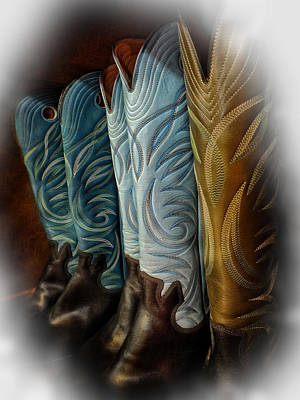 These Boots Are Made For Anything Art Print by Lucinda Walter