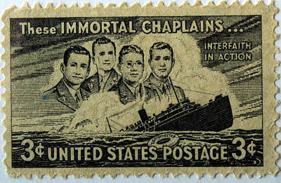 Photograph - These Immortal Chaplains by Tikvah's Hope