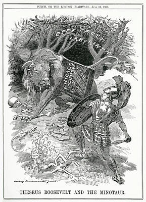 'theseus Roosevelt And The  Minotaur' Art Print