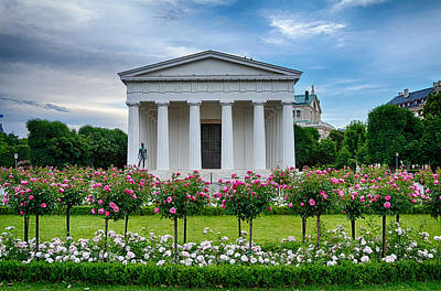 Theseus Temple In Roses Art Print by Viacheslav Savitskiy