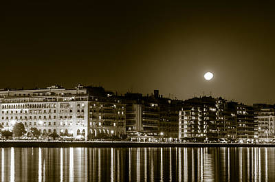 Photograph - Thessaloniki At Night. by Slavica Koceva