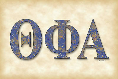 University Of Michigan Digital Art - Theta Phi Alpha - Parchment by Stephen Younts