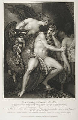 Depictions Of Nudity Photograph - Thetis Bearing The Armour To Achilles by British Library
