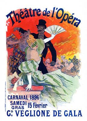 Photograph - The�tre De Lopera Poster, Jules Ch�ret by Science Source