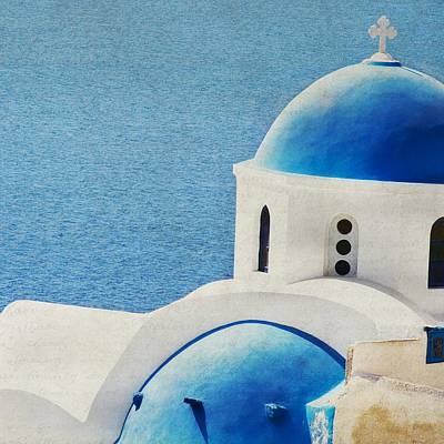 Photograph - They Are One - Santorini by Lisa Parrish