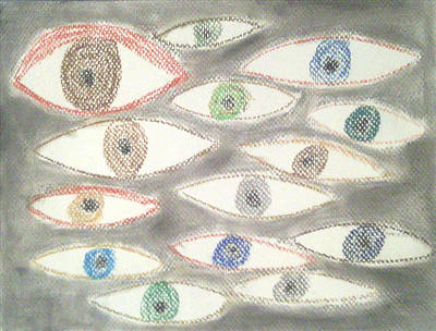 They Are Watching You Art Print by Judith Moore