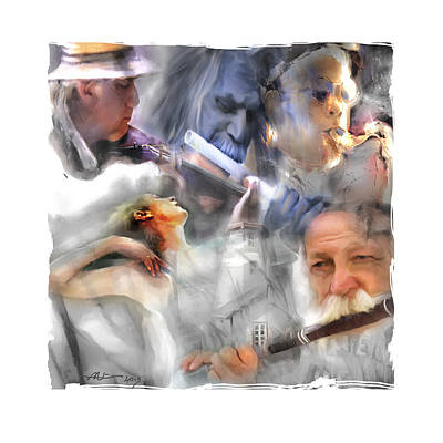 Portraits Digital Art - They Came To Play by Bob Salo