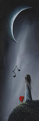 Surreal Art Painting - They Feel Your Love Song - Surreal Art By Shawna Erback by Shawna Erback