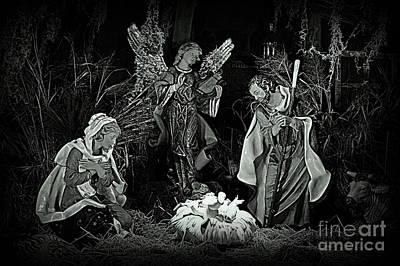 Manger Scene Digital Art - Silent Holy Night by Rev Richard W Burdett