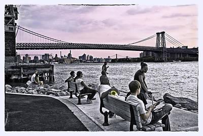 They Gathered At The Williamsburg Bridge - Brooklyn - New York Original by Madeline Ellis