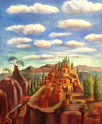 Machu Picchu Painting - Mexcio Desert Dwelling by Randy Burns