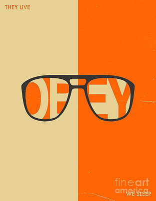 Obey Digital Art - They Live by Jazzberry Blue