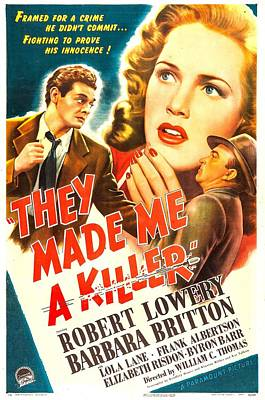 They Made Me A Killer, Us Poster Art Print