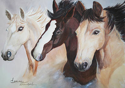 They Run Wild Print by Donna Steward