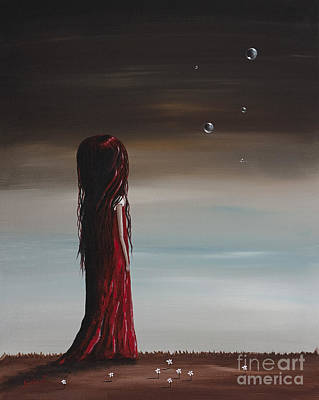 Floating Girl Painting - They Say She's A Dreamer By Shawna Erback by Shawna Erback