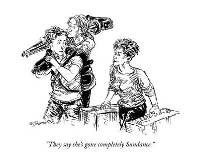 Festival Drawing - They Say She's Gone Completely Sundance by William Hamilton