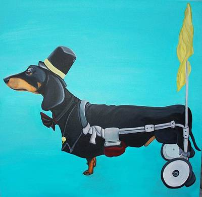 Handicapped Painting - They See Me Rollin' by Lauren Hammack
