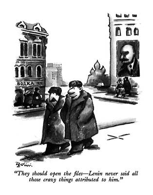 They Should Open The Files - Lenin Never Said All Art Print by Eldon Dedini