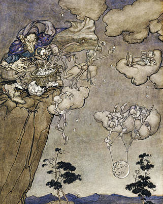 Nocturnal Painting - They Were Ruled By An Old Squaw Spirit by Arthur Rackham