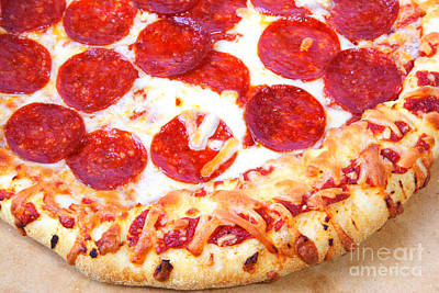 Photograph - Thick Crust Peperoni Pizza by James BO Insogna