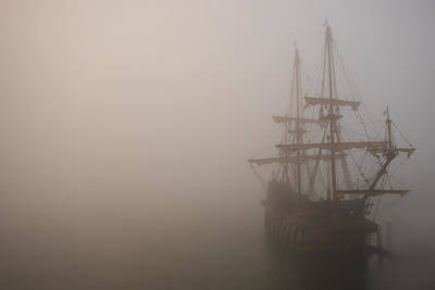 Photograph - Thick Fog Blankets El Galeon  by Stacey Sather