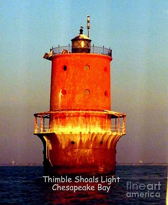Photograph - Thimble Shoals Light by John Potts