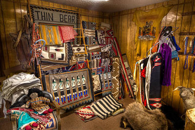 Trading Post Photograph - Thin Bear Trading Post Utah by Steve Gadomski