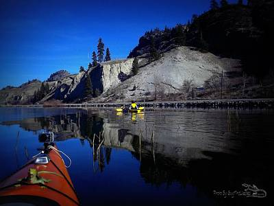 Thin Ice Kayaking Skaha Lake Art Print