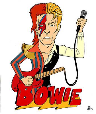 Ziggy Stardust Drawing - Thin White Ziggy by Seth Malin