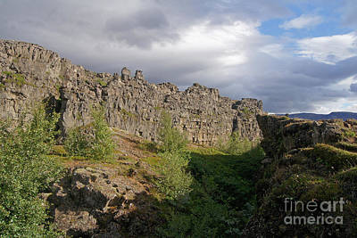 Photograph - Thingvellir Alting Area Iceland by Rudi Prott